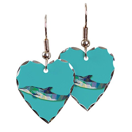 - Earring Heart Charm Triangle Dolphin