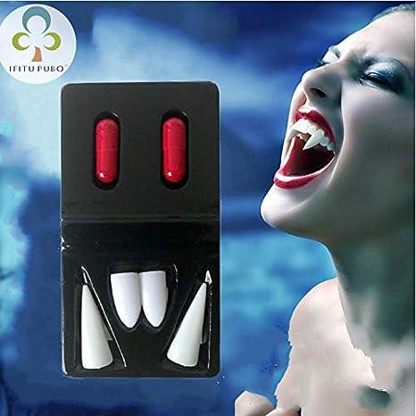 dentiere vampiro Halloween feste Cosplay Prop decorazione horror spaventoso  denti con sangue pillole Gyh 91f04897c6bd