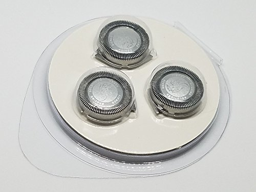 SH50/52 Replacement Heads Set of 3 Dual Precision Silver Dragon Universal Cooling Surface Blades for Philips Norelco Compatible Electric Shaver Series 5000 by Silver Dragon Shave (Image #5)