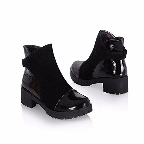 Martin tamaño botas zapatos mujer Black en cortas de grande RrWRSn