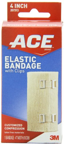 ACE Elastic Bandage w/clips 207313, 4 in