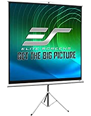 Elite Screens Tripod, 120-inch, Adjustable Multi Aspect Ratio Portable Pull Up Projection Projector Screen, T120NWV1