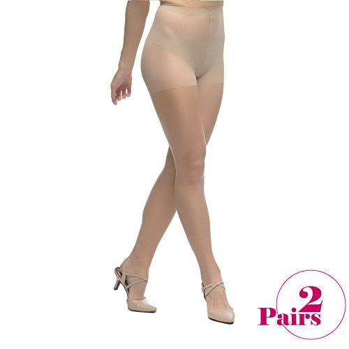 LadyDorset Thin Class Sheer Pantyhose - Soft and Elegant - Hosiery for Women - 2 Pairs