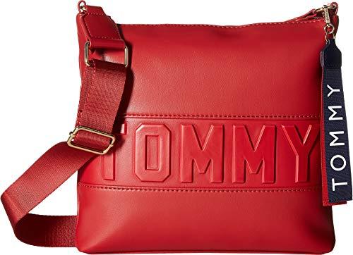 Tommy Hilfiger Women's Chiara PVC Crossbody Tommy Red One Size