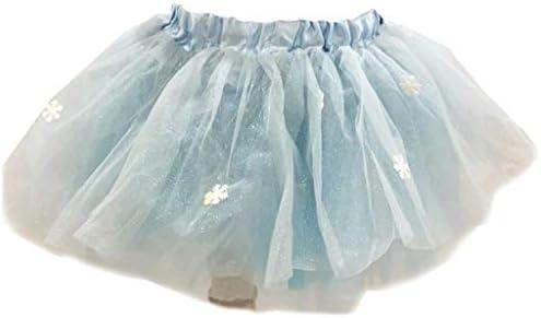 Falda de tutú con purpurina y copo de nieve para niñas de 3 a 8 ...