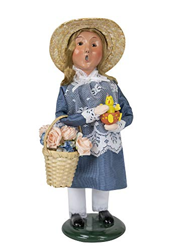 Byers' Choice Easter Girl Caroler Figurine from The Spring Collection #2213E (New - Choice Girl Byers