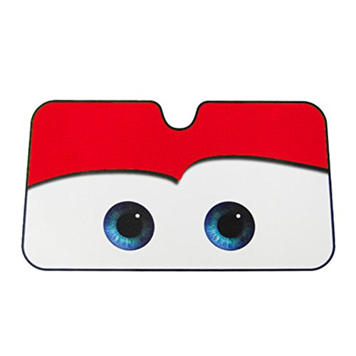 Red Cartoon Eyes Auto Car Front Window Windshield Sun Shade - Shades Cartoon