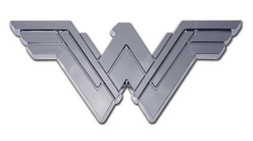 Womens Emblem - Wonder Woman (Stacked) Chrome Auto Emblem