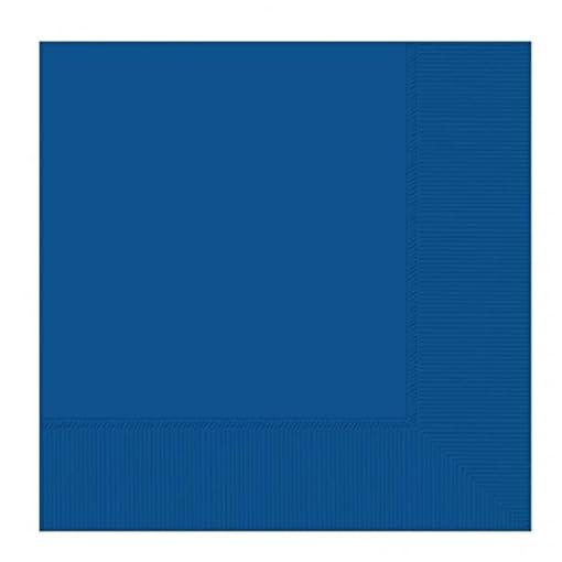 Amscan-33-cm-20-piezas-2-ply-servilletas-de-papel-color-azul