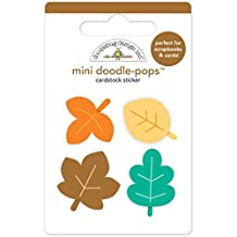 Doodlebug Doodle-Pops 3D Stickers-Flea Market Mini Autumn Leaves