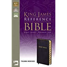 KJV, Reference Bible, Giant Print, Personal Size, Bonded Leather, Black, Indexed, Red Letter Edition