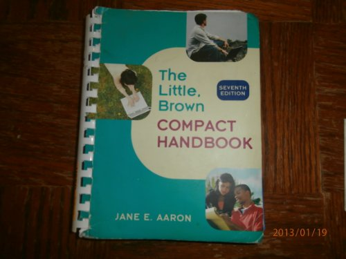The Little Brown Compact Handbook by Longman Pub Group