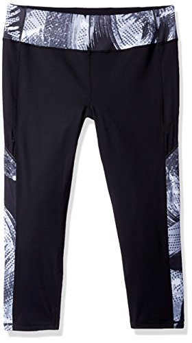 Miraclesuit MSP Women's Reversible Crop Pant, Black, L ()