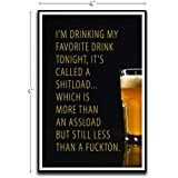 Drinking My Favorite Tonight Called A Shitload Motivational Inspirational Funny Magnet - Refrigerator Toolbox Locker Car…