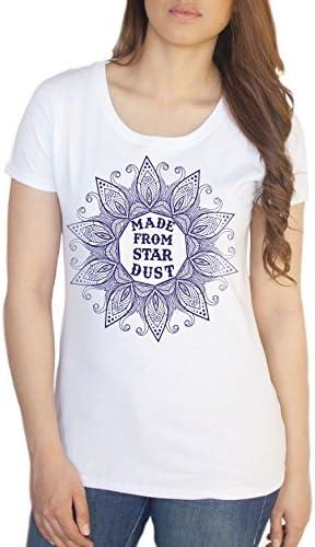 """TS722 Women's T-Shirt /""""No Mud No Lotus/"""" Yoga Flowery Lotus Print"""