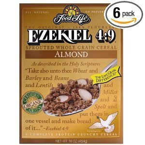 Food For Life Ezekiel 4:9 Organic Sprouted Grain Cereal, Almond, 16-Ounce Boxes by Food for Life