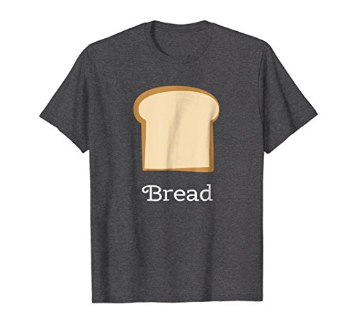 Mens Bread Group Costume Tees - Bread and Butter Small Dark Heather -
