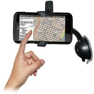 Black Amzer AMZ93824 Car Mount and Case System for HTC One X Retail Packaging