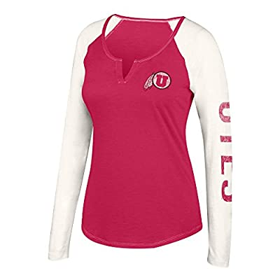 J America NCAA Women's Notch Neck Long Sleeve Tee