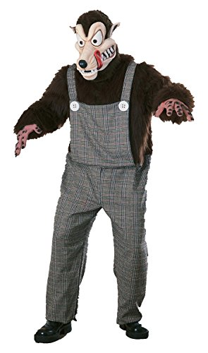 Big Bad Wolf Mascot Adult Costume - Standard -