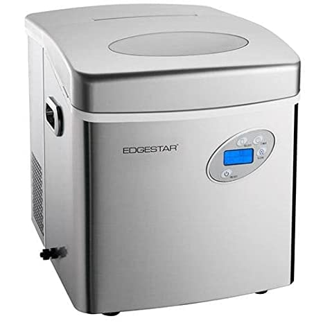Beau EdgeStar IP250SS Large Capacity Portable Countertop Stainless Steel Ice  Maker