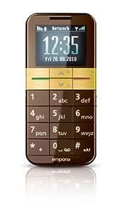 """Emporia V35B-001-BG - Móvil libre (pantalla de 1,8"""" 128 x 160) color marrón y dorado [importado de Alemania]"""