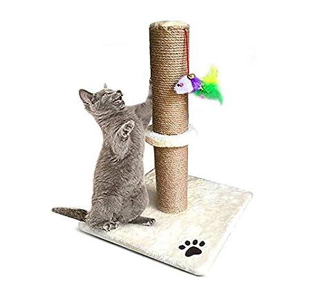 Morezi - Rascador para Gatos de 50 cm de Alto con Cuerda de sisal y Cubierta de Felpa Suave y Resistente a los arañazos Verticales: Amazon.es: Productos ...