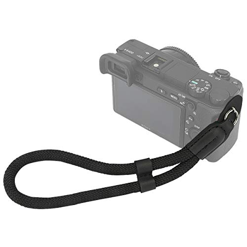 Haoge Camera Hand Wrist Strap for Leica M M-P M-E M8 M9 M9-P M10 M10-P M10-D Q Q2 Q-P CL D-Lux 7 X Vario MP ME M9P M10P M10D QP Typ107 Typ109 Typ113 Typ116 Typ240 Typ246 Typ262 Climbing Rope Black