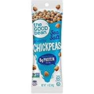 The Good Bean Chickpeas Snacks Grab & Go, Sea Salt, Gluten Free and Non-GMO, 1.4 Ounce,  10 Count