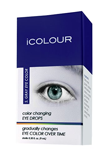 iCOLOUR Color Changing Eye Drops - Change Your Eye Color Naturally - 1 Month Supply - 9 mL (Sterling Gray)