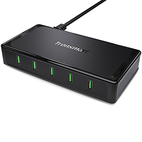 Tronsmart Titan 5-Port USB Charger with 10 Amp Total Output, All 5...