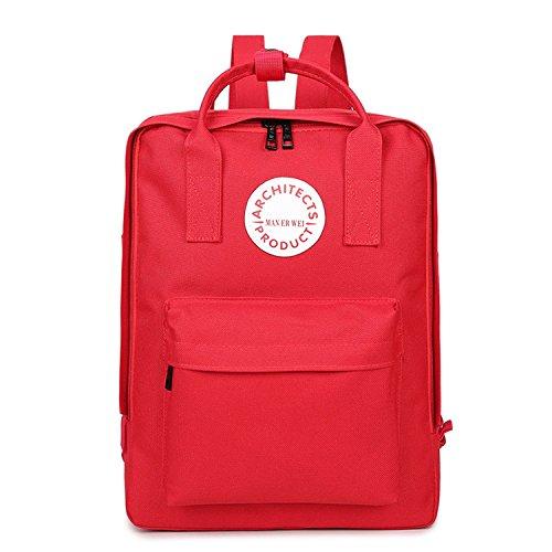School Bags Girls Backpacks Women Backpack Children Shoulder Bag Teenagers Oxford Travel Bags Red 21X10X29Cm(Lxwxh)