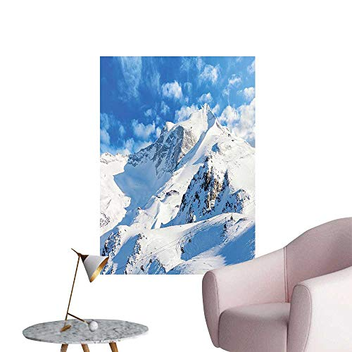 Modern Painting Mounta L Scape Ski Slope W TER Telfer Snowboard Image White Blu Home Decoration,16