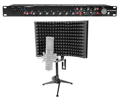 M-Audio M-Track Eight 8 USB Audio Recording Interface+Isolation Vocal Shield