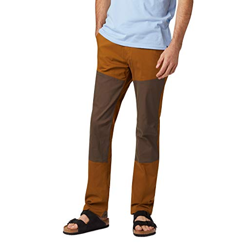 Mountain Hardwear Mens AP Pant for Hiking, Climbing, Commuting and Office - Golden Brown, Tundra - 32W x 32L