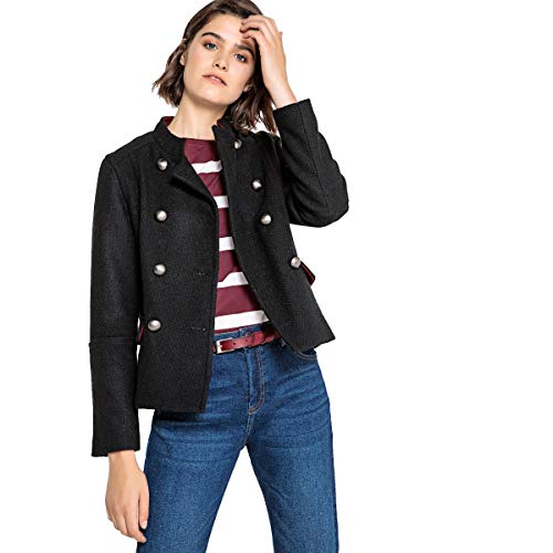 La Redoute Collections Womens Wool Mix Military Jacket Black Size US 8 - FR 38 from La Redoute