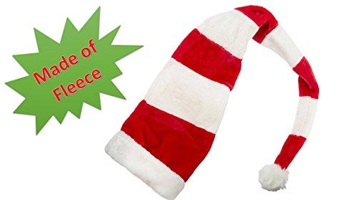 Deluxe Classic Mrs Claus Costumes (Santa Claus Hat - Long Santa Hat - Stripe Santa Hat - Gets Everyone Into The Fun Holiday Spirit - Santa Hat)