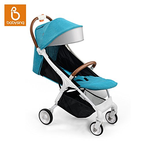 Babysing Folding Portable Multifunctional Baby Umbrella Stroller, Super Lightweight Shock Suspension Design Infant Pushchair with Canopy
