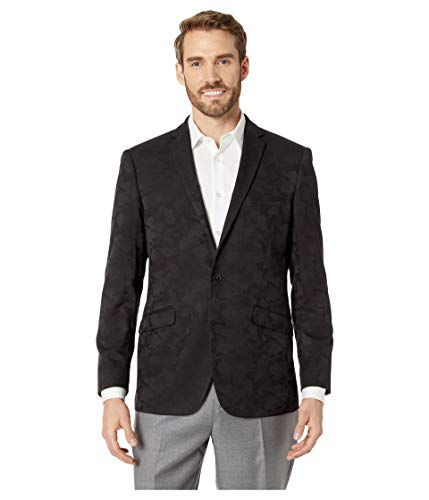 Kenneth Cole REACTION Men's Slim fit 2 Button Blazers, Black Camo, 42 Regular -