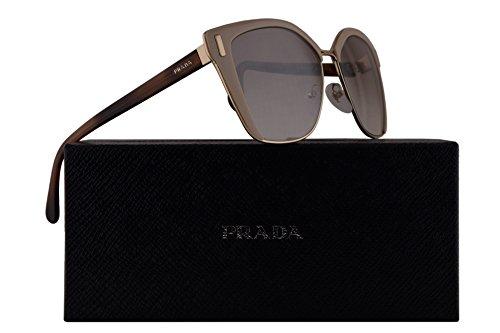 Prada PR56TS Sunglasses Light Brown Pale Gold w/Brown Mirror Gradient Silver 54mm Lens VHR4O0 SPR56T PR 56TS SPR - Prada Sunglasses Kids For