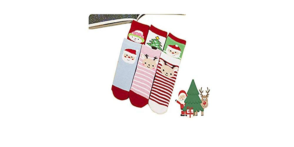 Six Pairs of Keeping Warm Baby Socks are Specially Prepared for Christmas
