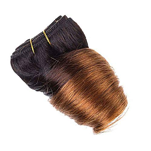 Black Friday Deals 2017 Bob Peruvian Loose Wave 4 Bundles 200g Wholesale Lots 12 Color Ombre Weave Spring Curly Wet And Wavy Human Hair Extensions (T1B/33#)