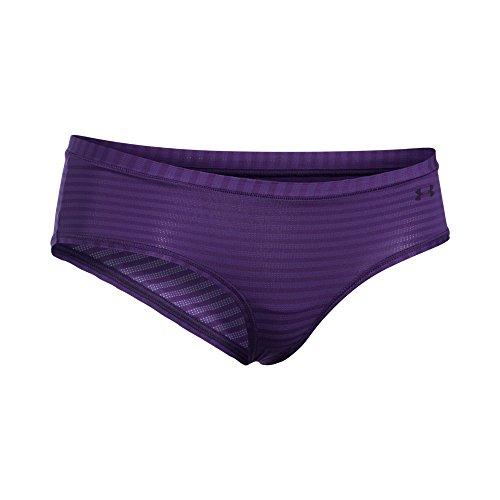 Under Armour Women's Pure Stretch - Sheer Novelty Hipster, Purple Emerite /Purple Emerite, X-Small ()
