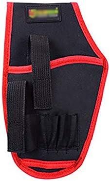 ツールベルト 多機能オックスフォード布ツールベルトバッグポータブルハンドドリルベルトのために修理工電気技師ブルーイエローレッド 大工のエプロン (Color : Red, Size : 15x25cm)