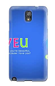 Galaxy Note 3 Case Cover Skin : Premium High Quality You Are So Beautiful Case