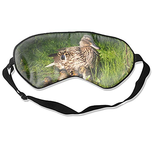 Silk Sleep Mask Blindfold Eyeshade Duck Breathable Soft Protect Eye Mask for Travelling, Sleeping, Relaxation, Spa, Daydream on Plane ()
