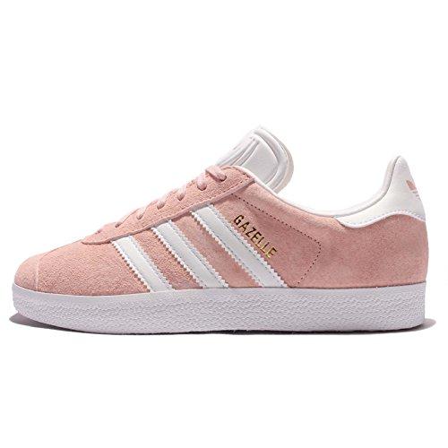 adidas Women's Gazelle W, VAPOUR PINK/FOOTWEAR WHITE/GOLD METALLIC, 8.5 US (Adidas Women Shoes Gazelle)