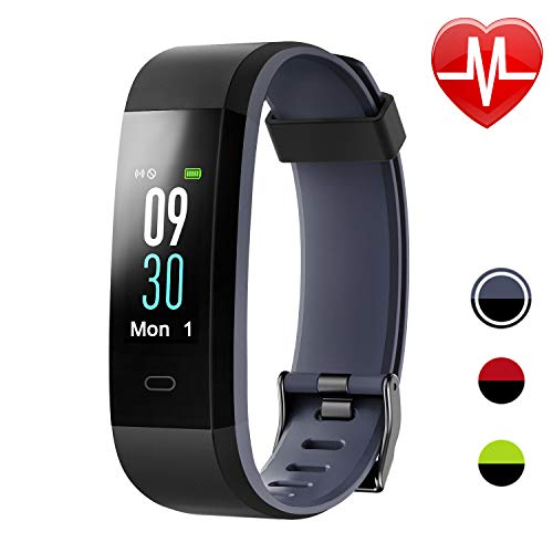 Letsfit Fitness Tracker HR, Activity Tracker with Heart Rate Monitor Watch, IP67 Waterproof Smart Band with Step Counter Pedometer Watch for Kids Women Men
