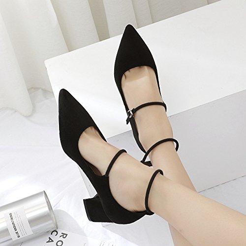 zapatos zapatos mujer correa black con atrevida zapatos solo En Choo y boca de la superficial punta satén reposapiés nueva de ZHZNVX xHOFfwTq
