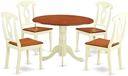DLKE5-BMK-W 5 PC Dining set-Dining Table and 4 Dining Chairs